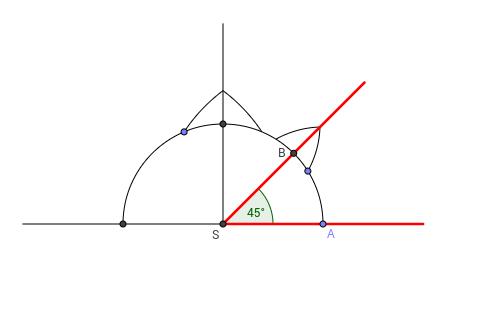 Angle 45 degrees