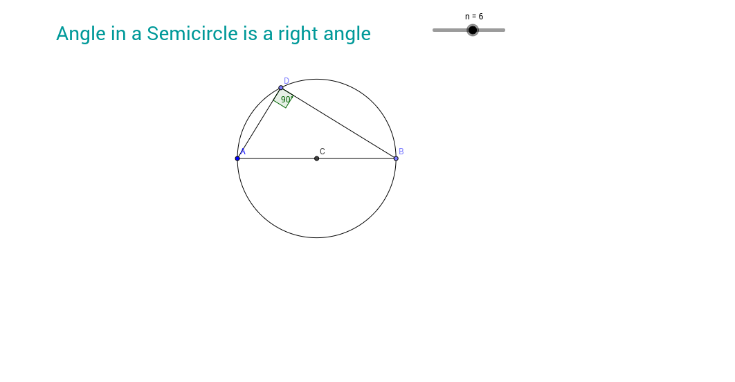 Angle in a semicircle