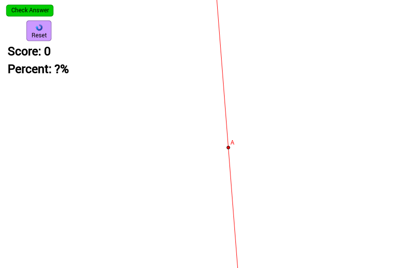 Perpendicular Line through a Point on the Line (Self-Check)