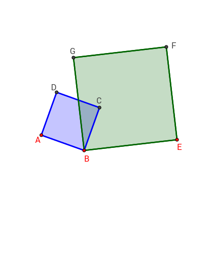 Find 2 similar triangles