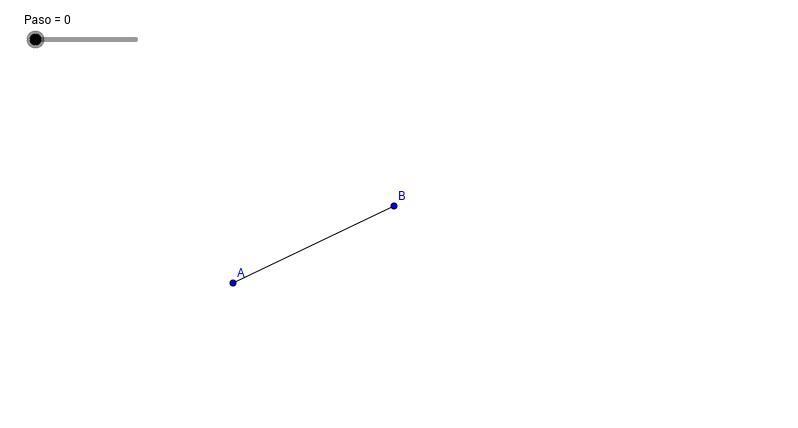 Trazo de la mediatriz de un segmento.