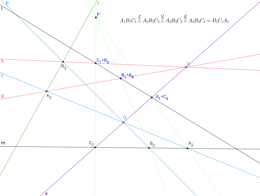 Transformatie van drie punten op een lijn