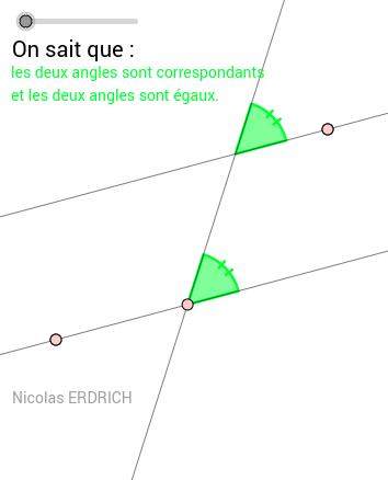Angles correspondants réciproque
