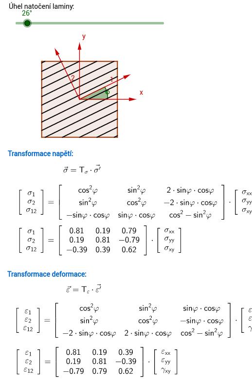 Transformační matice