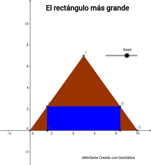 Rectángulos inscritos en un triángulo
