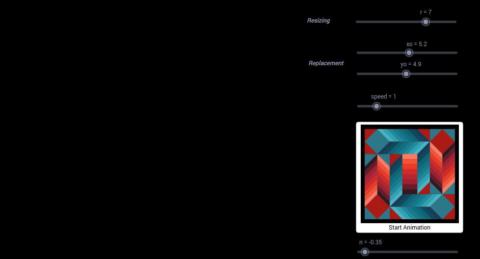 Vasarely Op-Art: Stri-Dio II