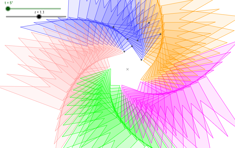 Spiral from polygons