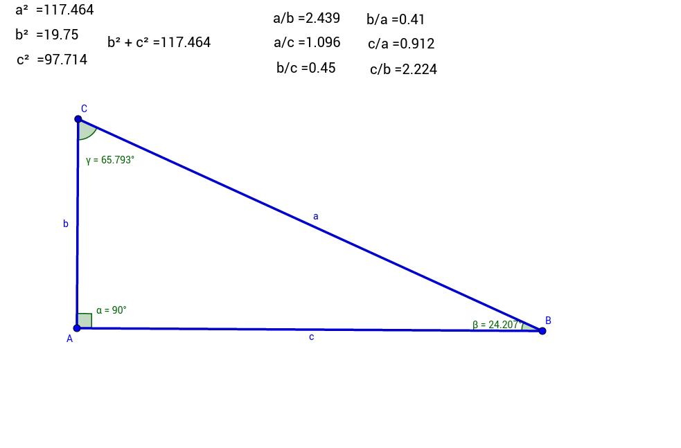 Relacions en un triangle rectangle