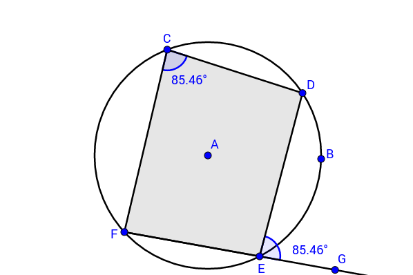 Theorem 8 - Exterior angle of a cyclic quadrilateral