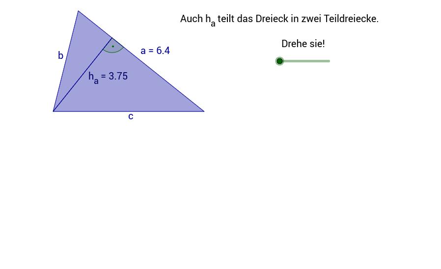 Flächeninhalt des Dreiecks 2