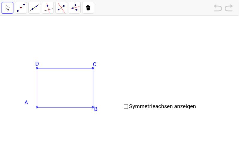 symmetrieachsen zeichnen geogebrabook