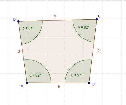 4 gleich große Winkel im Viereck