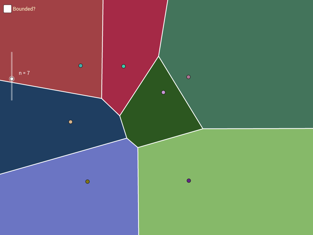 Dynamic Voronoi Tesselation