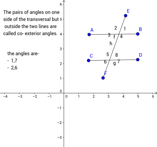 COEXTERIOR ANGLES GeoGebra – Exterior Angles Worksheet