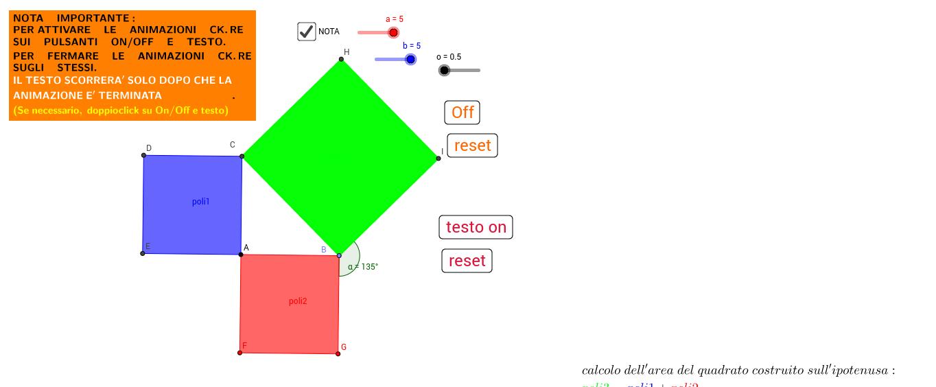 teorema di Pitagora - dimostrazione.
