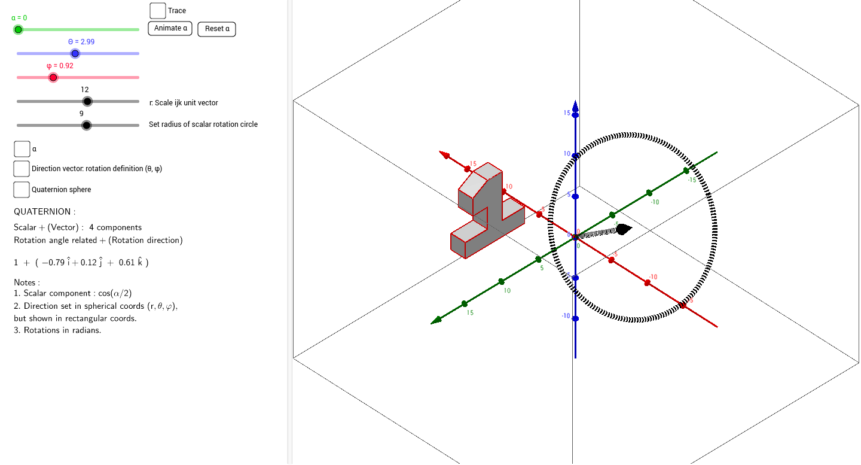 3D rotation by quaternion GeoGebra – Rotations Worksheet