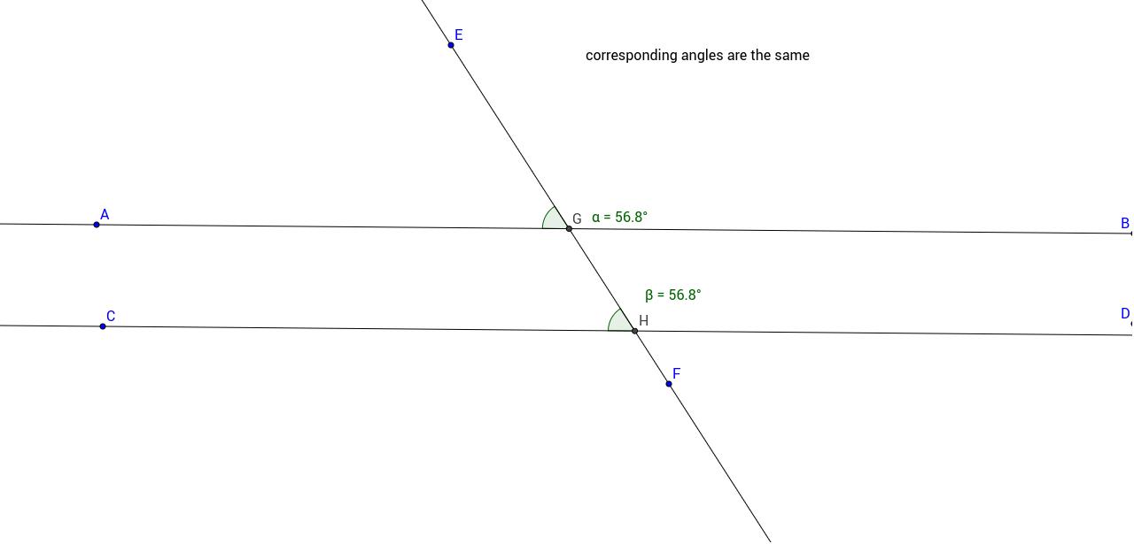 worksheet Corresponding Angles corresponding angles geogebra
