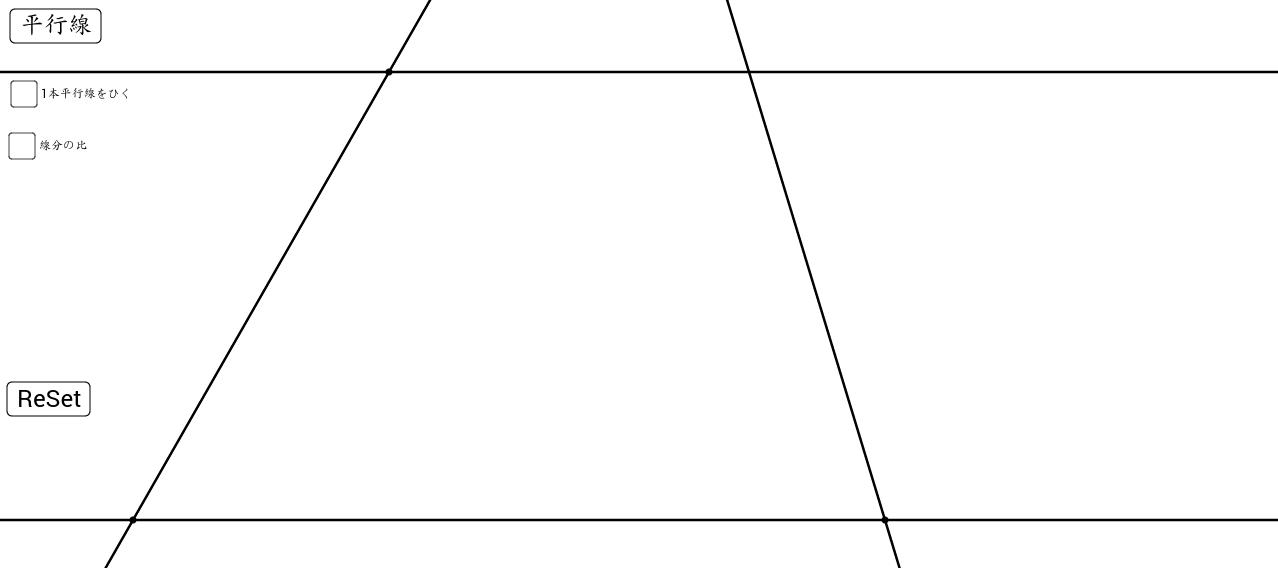 平行線と線分比