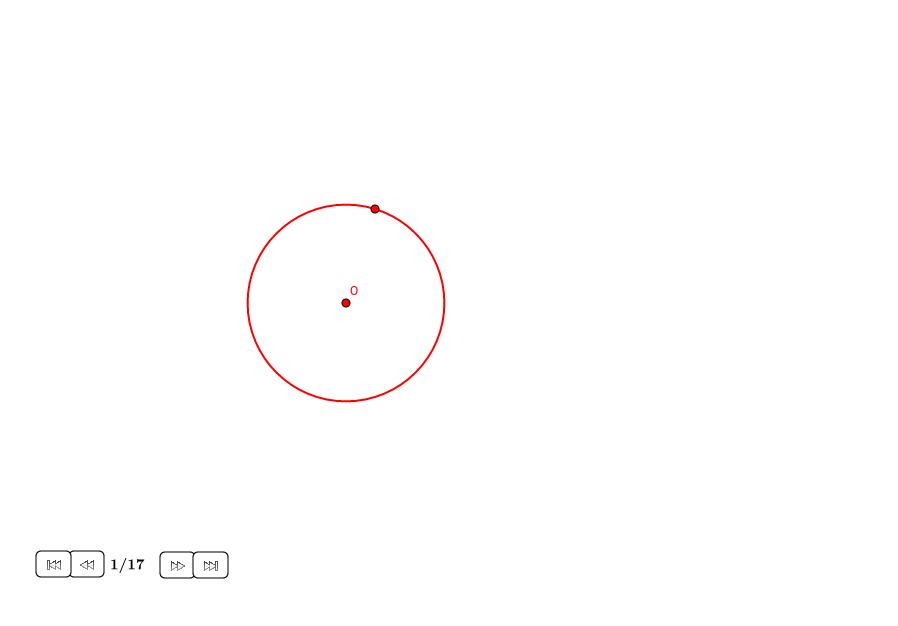 Pentágono regular en un círculo