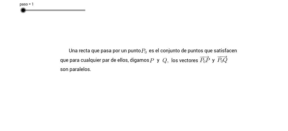 Ecuación vectorial de la recta