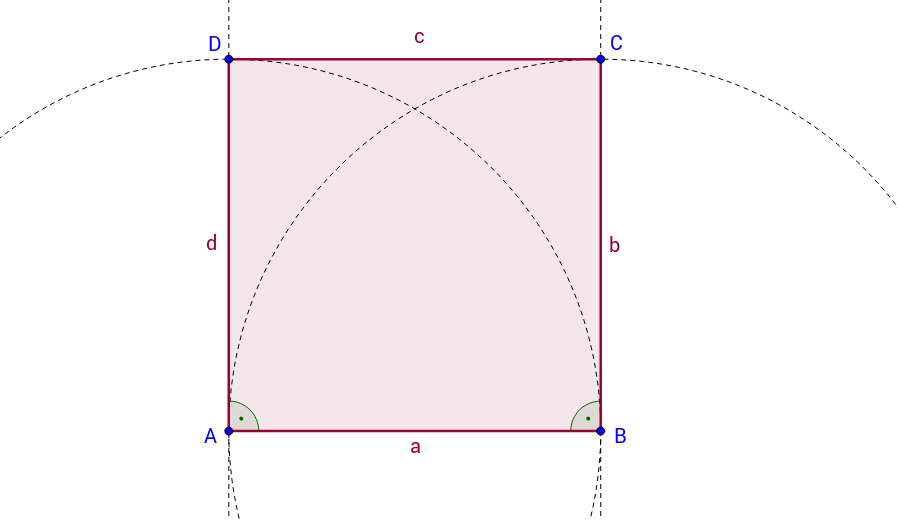 Konstruktion eines Quadrates