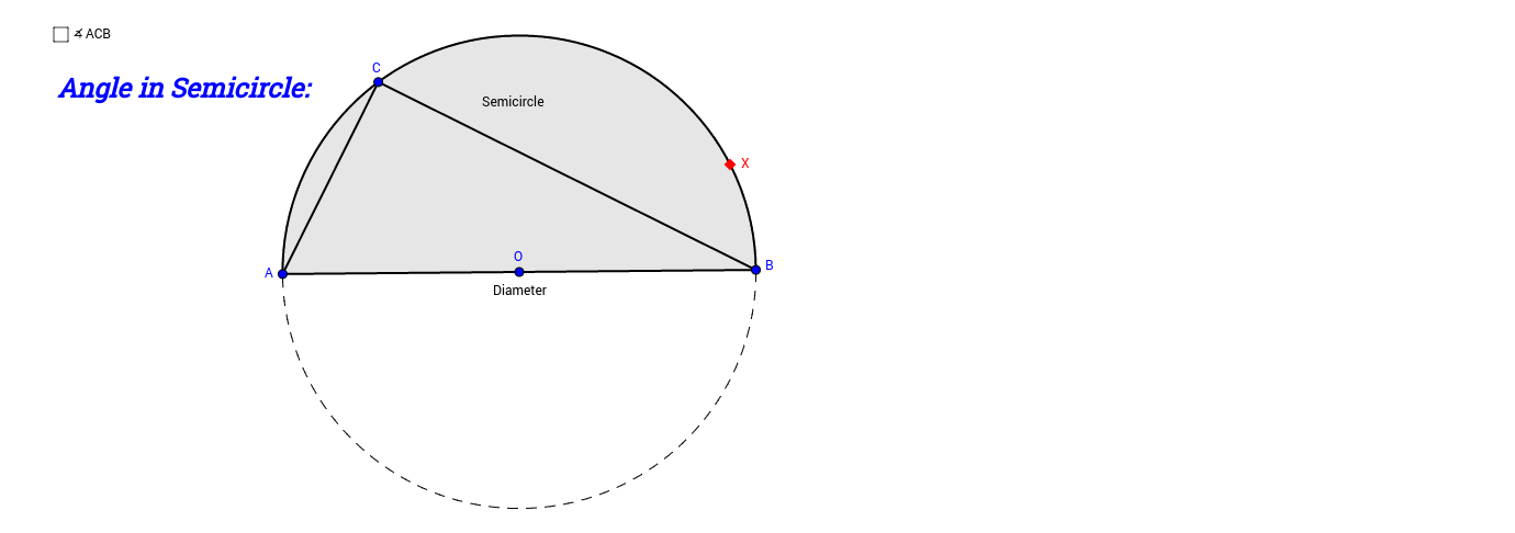 Angle in Semicircle
