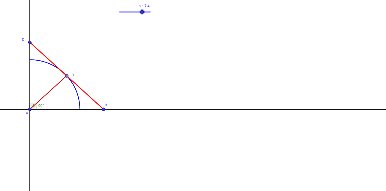 Gato en punto medio de escalera (lugar geométrico)