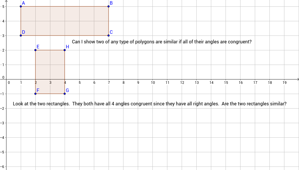 Does AA similarity hold for any shape polygon?