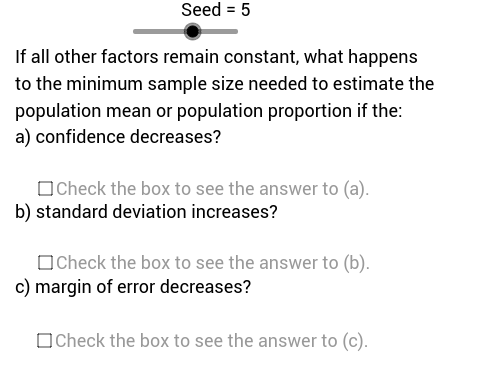 Sample Size Variation Problems