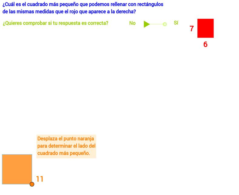 Recubrir cuadrados con rectángulos iguales (I)