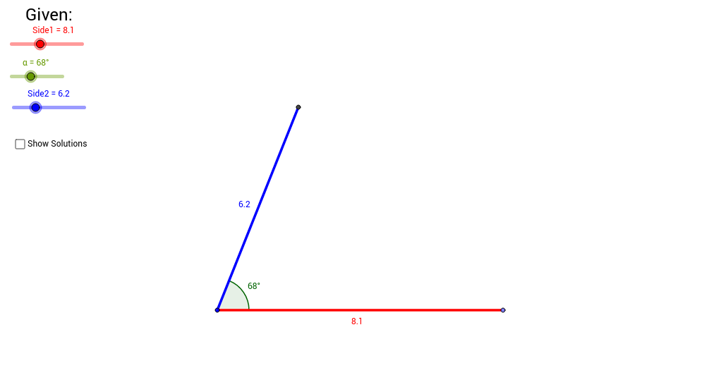 SAS Law of Cosines
