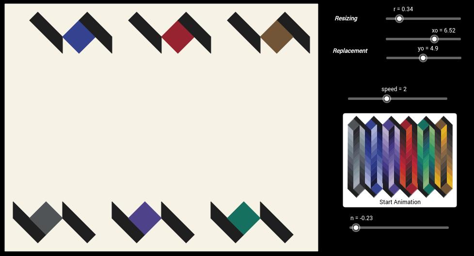 Vasarely Op-Art: Batmat