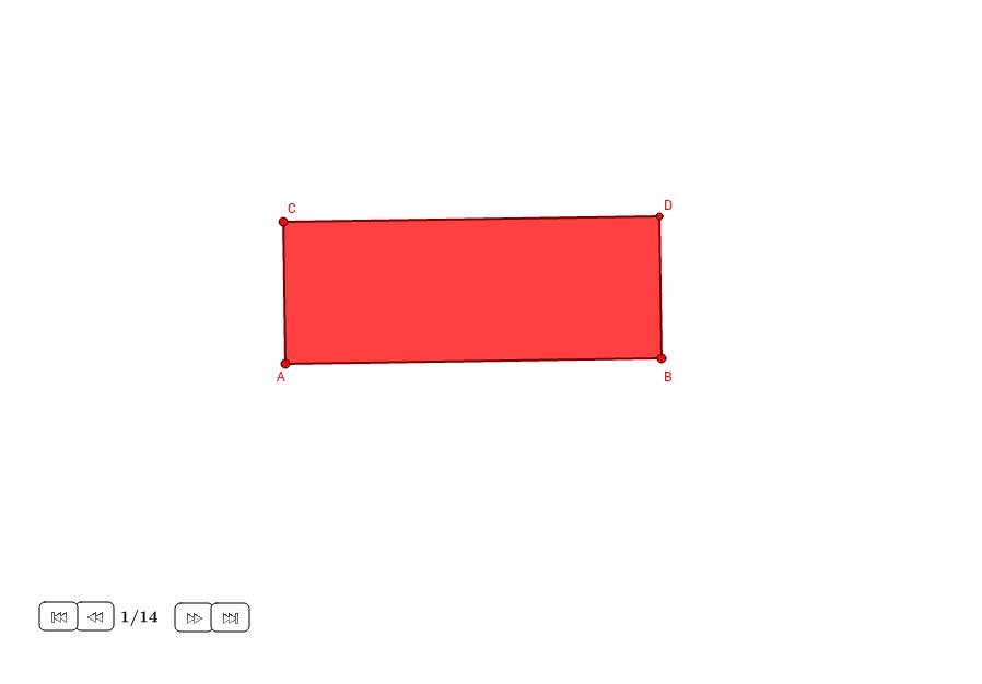 División del rectángulo del Contador de Arena