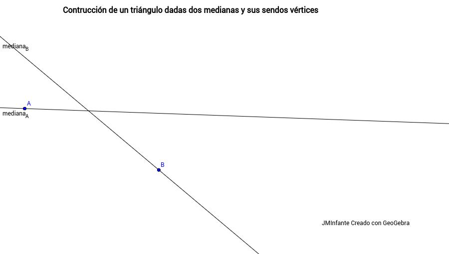 Construcción de un triángulo desde dos medianas