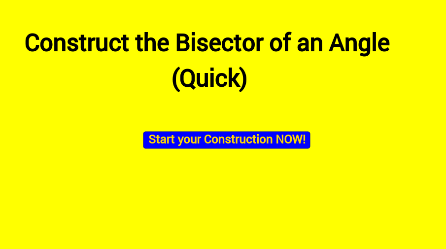 Bisect an angle (Quick)