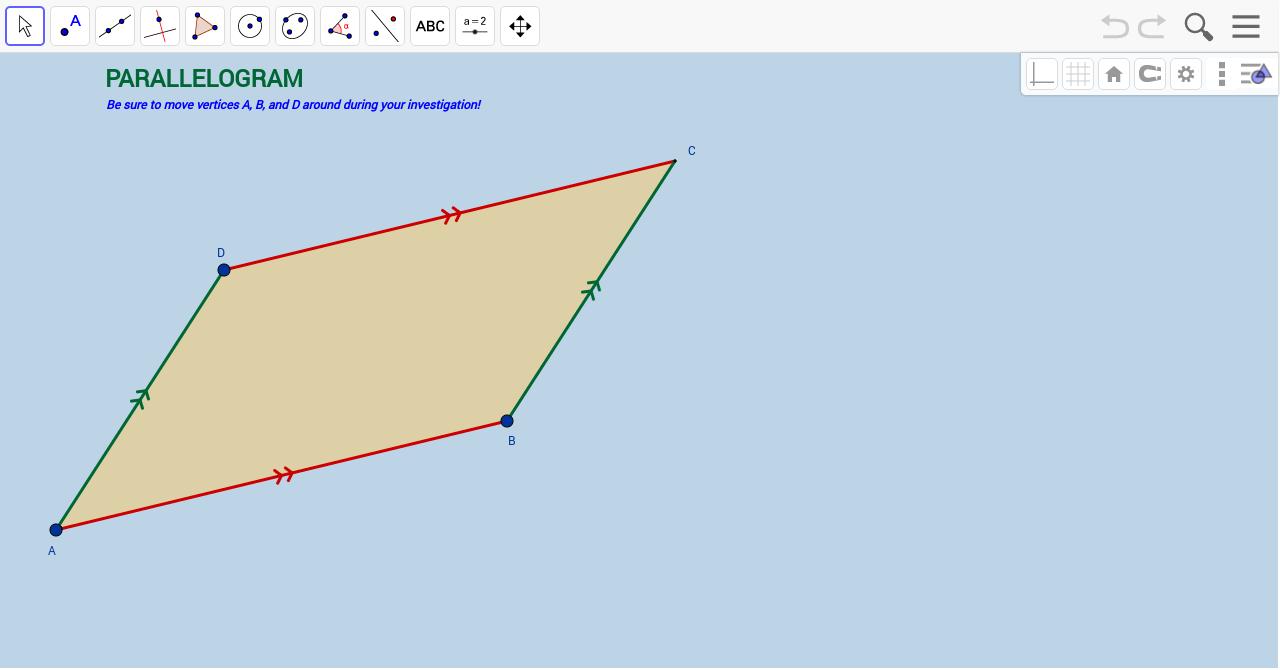 Parallelogram Template - GeoGebra