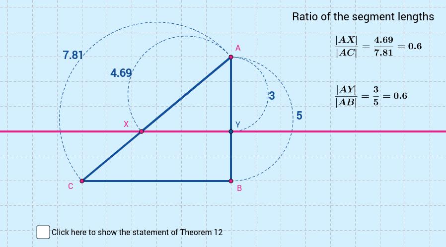 Theorem 12: Line dividing sides in ratio - variation
