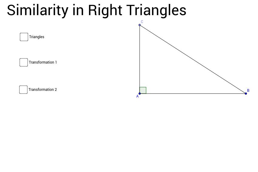 Similarity In Right Triangles Geogebra