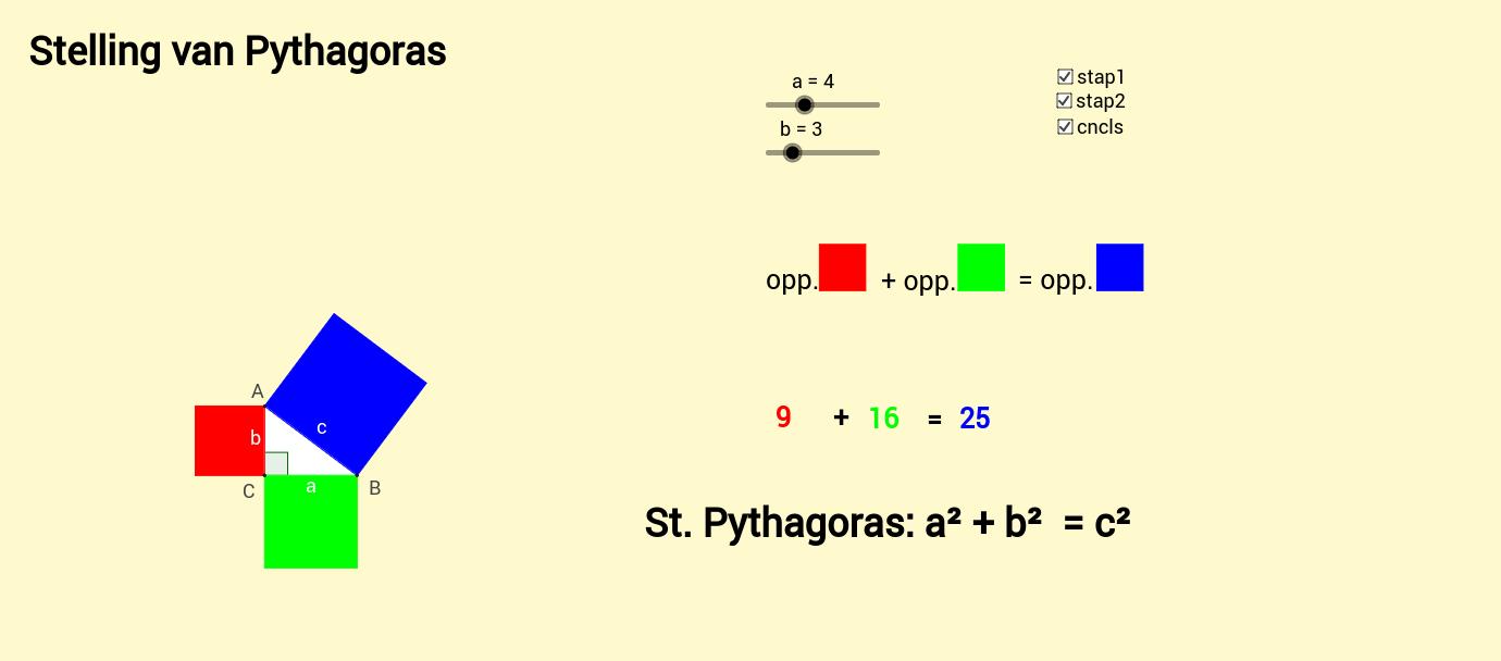 Pythagoras voorbeeld