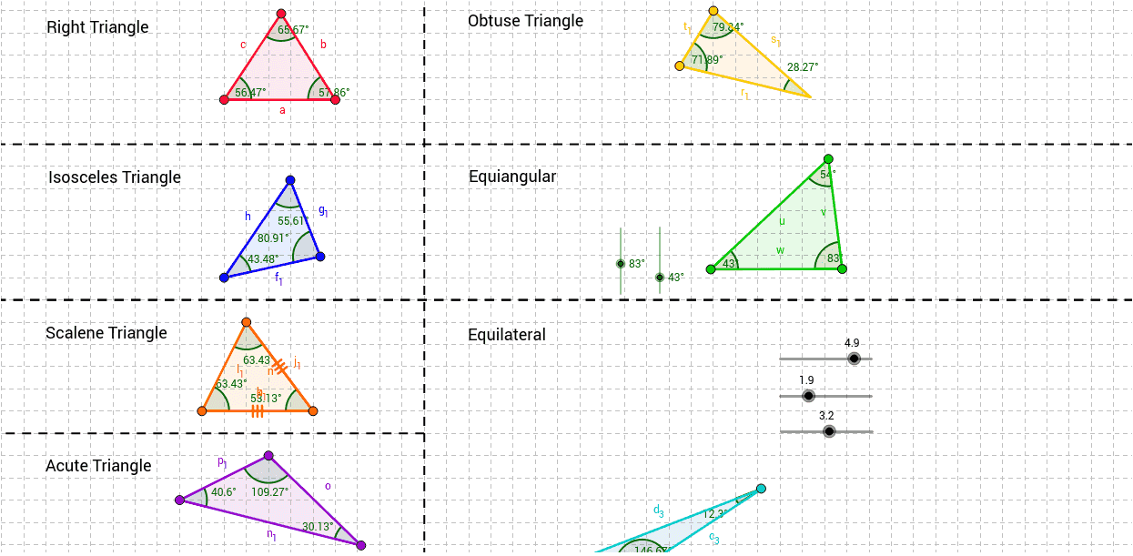 Classifying Triangles Activity GeoGebra – Classifying Triangles Worksheet