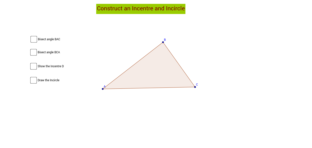 Incentre and Incircle