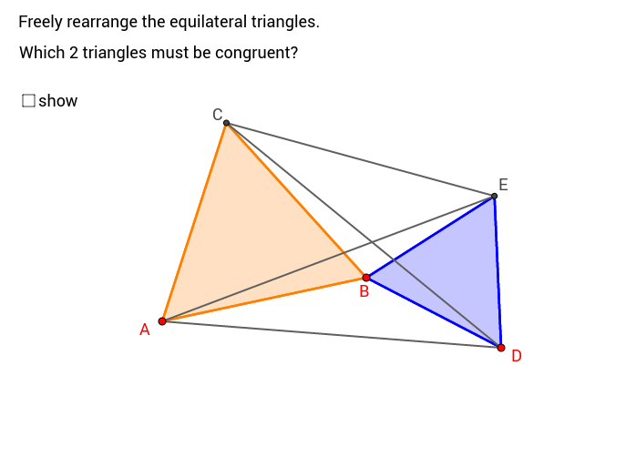 find two congruent triangles