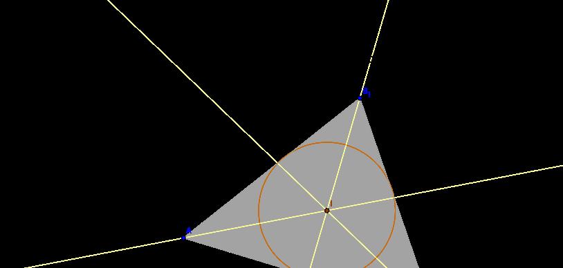 Incentro de un triangulo