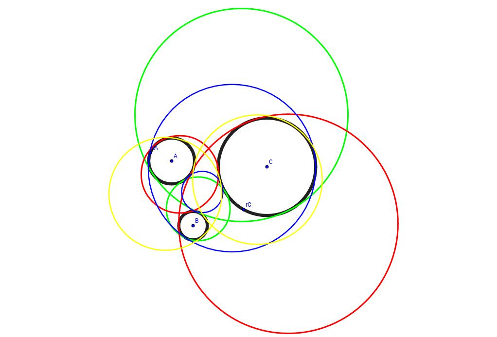 Αντιγραφή του Apollonius' three-circle problem