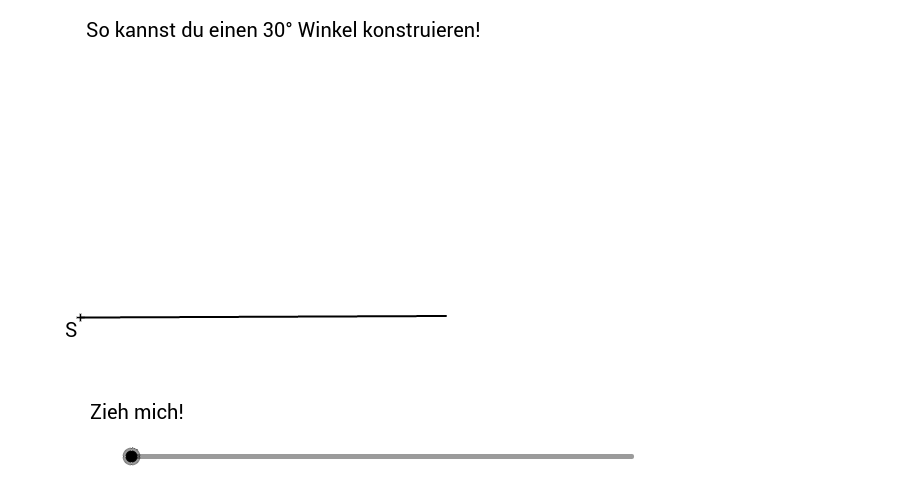 Konstruktionsanleitung - 30° Winkel