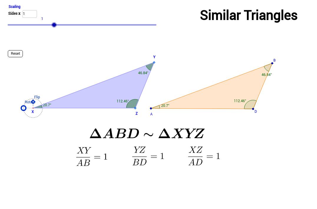 Copy of Similar Triangles