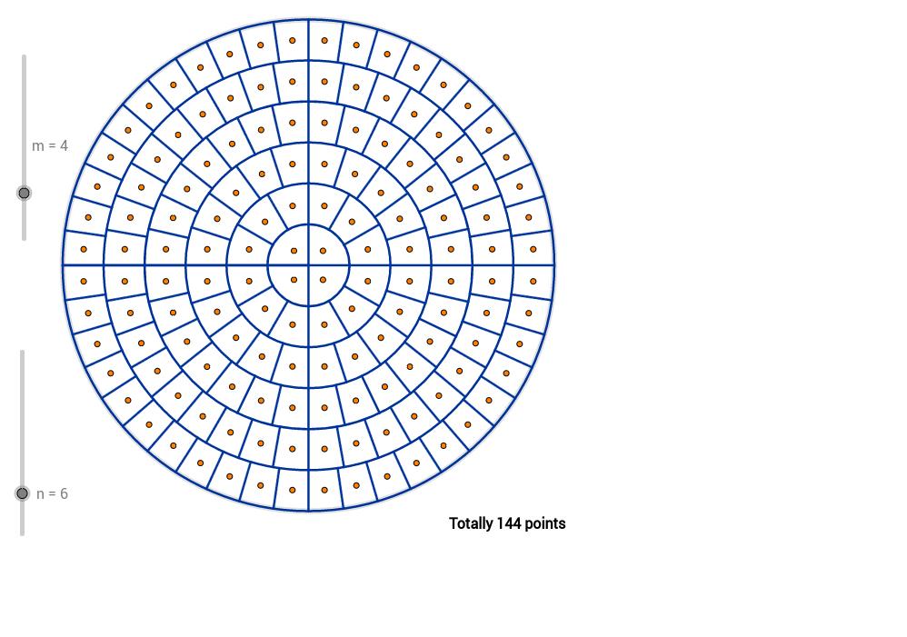 Isocel disc tesselation