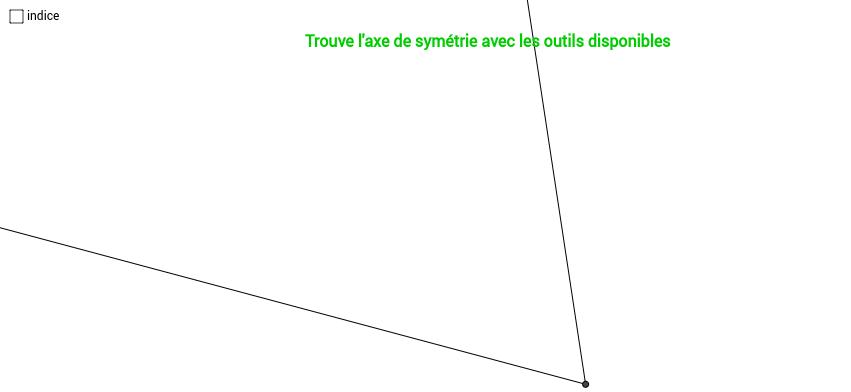 Trouve l'axe de symétrie 4/7