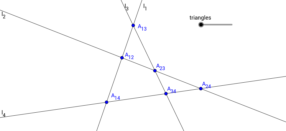 Four Triangles in a Quadrilateral