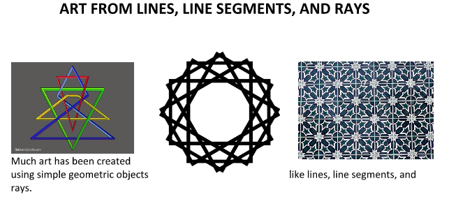 Art from Lines, Line Segments, and Rays